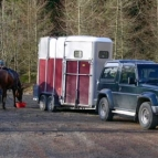 Horsebox car park