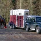 Horsebox car park