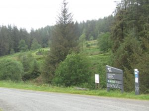 Brynffo car park entrance